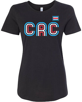 Costa Rica Athletic Retro Series Women's Fitted T-Shirt (Costa Rica Fitted T-shirt)