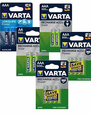 Varta Power Akkus Accus und Batterien AAA Micro AA Mignon > Neu aus 2019  <