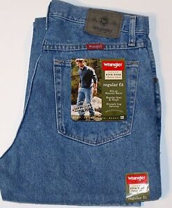 New Wrangler Five Star Premium Denim Regular Fit Jeans Men's Sizes 5 Colors