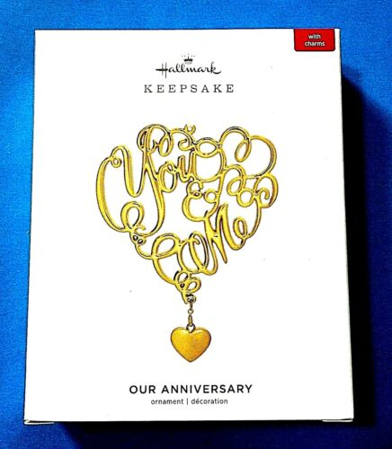 """Hallmark """"Our Anniversary"""" Has 5 Charms 1,5,10,25 and 50 Years Ornament 2019"""