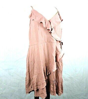 Mossimo Womens Dress Size XXL Faux Wrap Ruffle Cherry Stone NWT Ruffle Faux Wrap