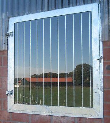 Stallfenster, Drehfenster, mit VSG Sicherheitsgals und Gitter, Pferdestall, Box