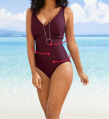 Badeanzug Gr 52 lila Shapebadeanzug Shaping Einteiler Bademode Schwimmen neu