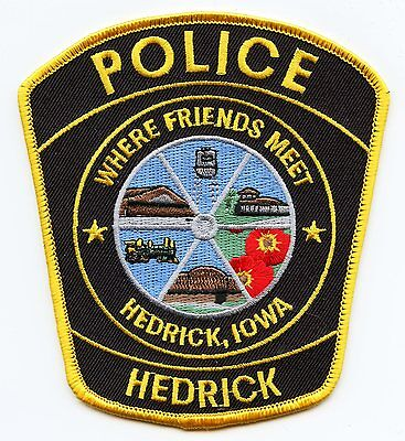 HEDRICK IOWA IA Where Friends Meet POLICE PATCH