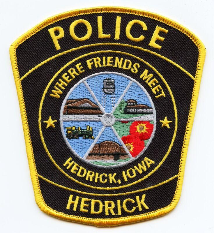 HEDRICK IOWA IA Where Friends Meet POLICE PATCH
