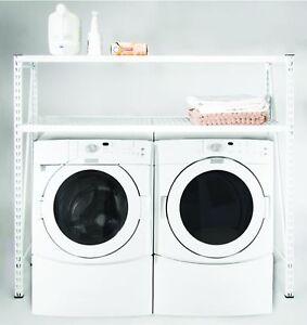 Laundry Room Rack Shelving 3 Shelf Utility Shelves Washer Dryer Organize Clothes