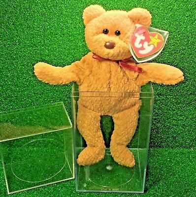 300d5ce5237 NEW Ty Beanie Baby Curly BEAR PVC Rare 1993 Canadian Customs Tush Retired -  MWMT