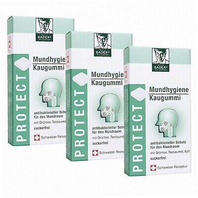 BADERs Protect Mundhygiene Kaugummi aus der Apotheke. Antibakterieller Schutz...