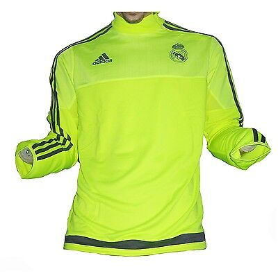 Real Madrid Trainingstop Sweatshirt Yellow 2015/16 Adidas Gr.M