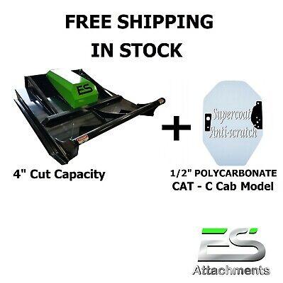60 Es Brush Cutter Mower Plus Cat Windshield Skid Steer -free Shipping