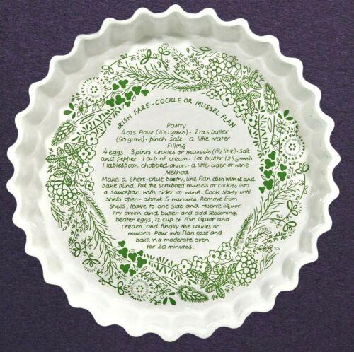 Vtg Recipe Flan Baking Dish IRISH COCKLE MUSSEL Celtic Ceramics Kilkenny Ireland