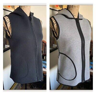 Lululemon Insculpt Vest Reversible Hoodie SPACER Black Heathered Medium Grey 6