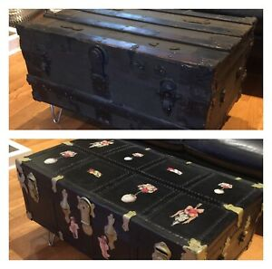 Antique Steamer Trunks - Coffee Table