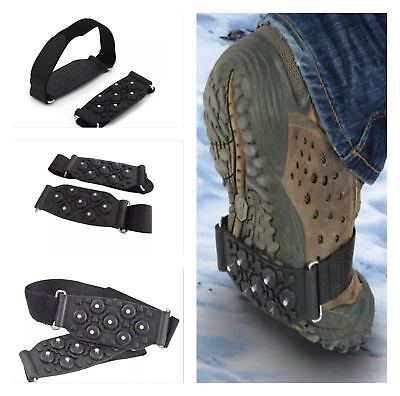 SHOE GRIPS - STUDDED SNOW & ICE GRIPPERS /STUDS FOR SHOES, BOOTS ETC - UNIVERSAL