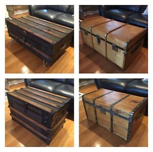 Antique Steamer Trunks - Coffee Table - Assorted - FREE DELIVERY