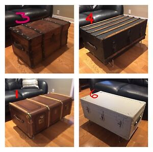 Antique Trunks - Coffee Table- Assorted Prices; Styles