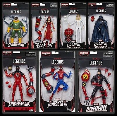 Marvel Legends Spider- Man Wave SP//DR Baf Set Presale Cloak Dagger Daredevil