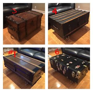 Antique Trunks - Coffee Table - Assorted Prices/ Types