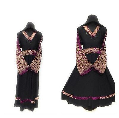 Latest Design Dubai Abaya Wedding Farasha Maxi Dress + hijab