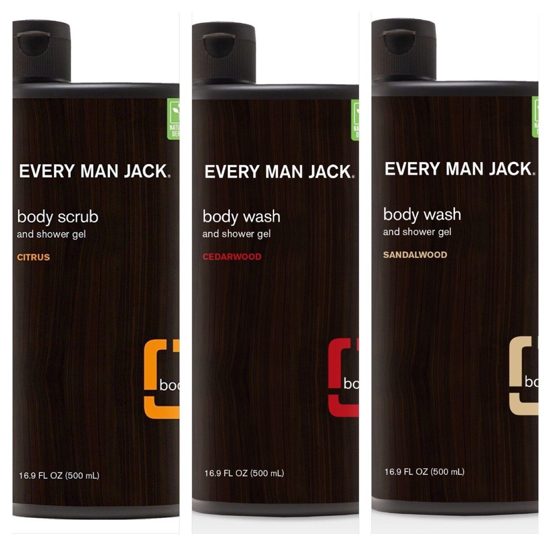 2x Every Man Jack 16.9oz Body Wash/ Scrub, Choose Citus, Ced