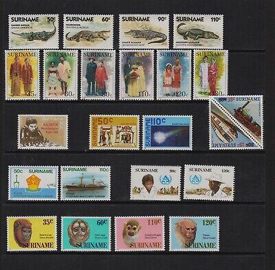 Surinam - 8 mint sets, cat. $ 32.40