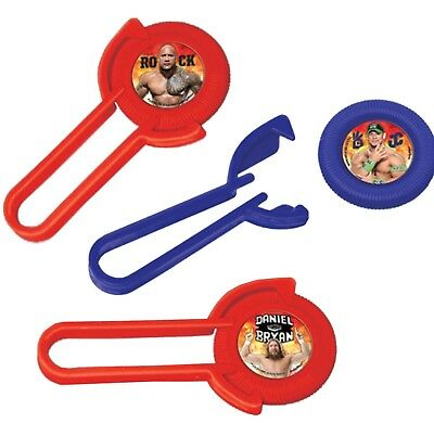 WWE 2014 Party Supplies Disc Shooters party favors 12ct. (Wwe Favors)