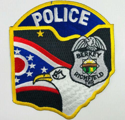 Berkey Police Richfield Township Lucas County Ohio Patch (A4)