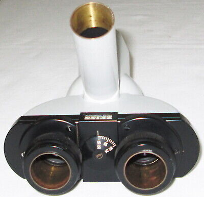 Zeiss Microscope Trinocular Head - Works Well - Good Optics - No Delamination -