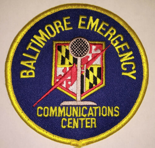 Baltimore Maryland Emergency Communications Center Patch // FREE US SHIPPING!
