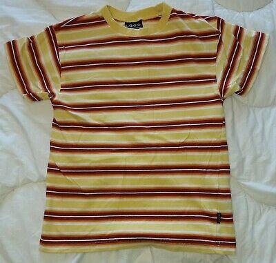 tshirt jaune ligné rouge/orange - Taille 134 / 9 ans