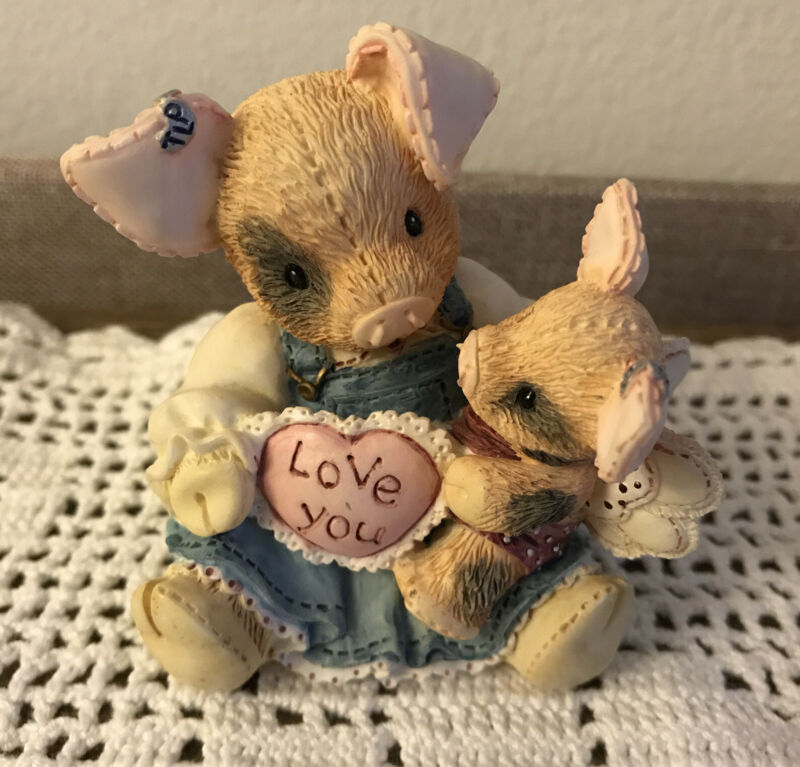 Enesco 1995 THIS LITTLE PIGGY TLP Figurine I'll Love You Until Mary Rhyner-Nadig