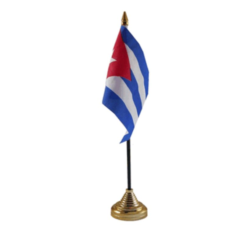"CUBA DESKTOP TABLE FLAG 6""X4"" 15cm x 10cm flags CUBAN"