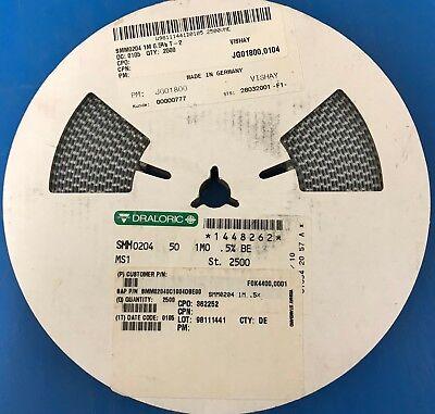 Qty 2500 Smm0204 Series 1 Megohm 0.5 Melf Cylindrical Resistors New