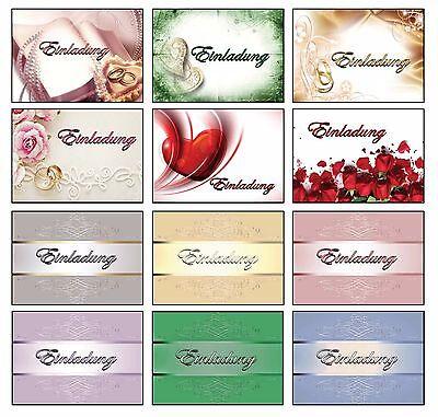 Einladungskarten mit Umschlag Hochzeit Geburtstag Allgemein Jugendweihe Taufe (Taufe Karten)