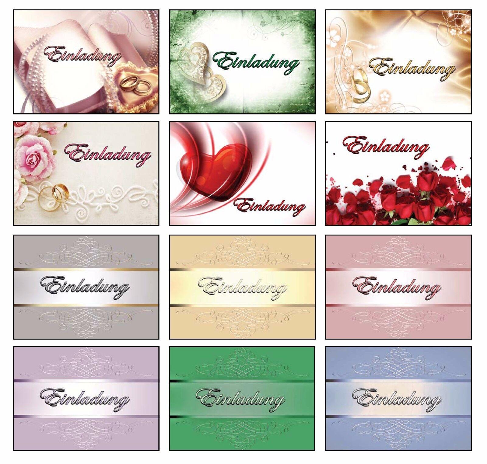 ... Einladungskarten Mit Umschlag Hochzeit Geburtstag Allgemein Taufe  Jugendweihe