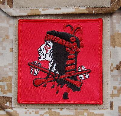 NSWDG Red Squadron Team Flag Patch DEVGRU ST6 Red Team Zero Dark Thirty Hook
