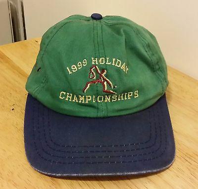 617925a5fcaeb 1999 Matthew Norton Vintage Baseball Trucker Hat Holiday Championships Green  Law