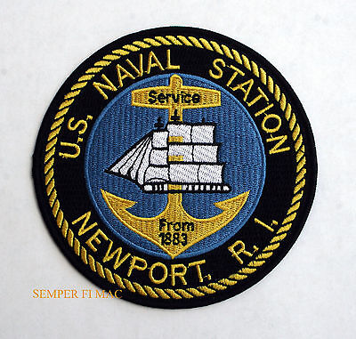 US NAVAL STATION NEWPORT RI PATCH OCS JUSTIC SCHOOL NAVSTA CNIC WAR COLLEGE