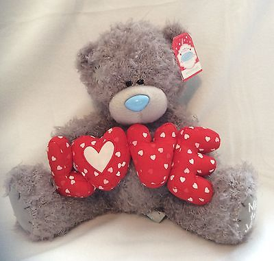 "Me To You Bear Holding The Word Love - 10"" Plush - Brand New"