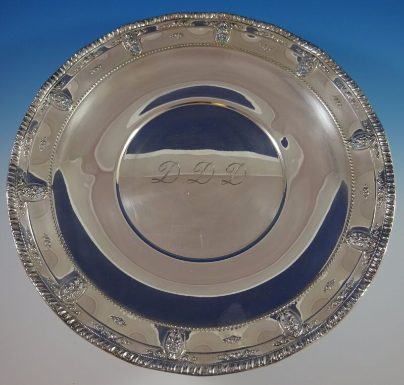 "Rose Point by Wallace Sterling Silver Serving Platter 18"" Large #4381 (#1101)"