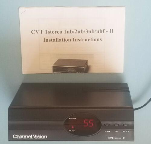 CHANNEL VISION CVT-1 STEREO-II Stereo Digital RF Modulator w/instructions