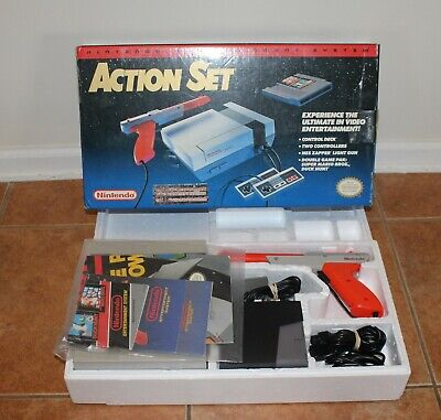 NES ACTION SET - Complete CIB - Tested - Console - Very Good Condition!!  ⭐⭐⭐