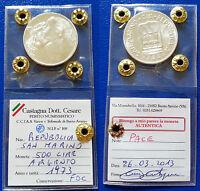 Moneta 500 Lire Argento San Marino 1973 Pace Periziata Fdc Silbermünzen Silver -  - ebay.it