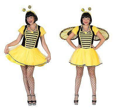Biene Mädchen Kostüm (Biene Bonnie Damen Kostüm Mädchen Kostüm Bienenkostüm Karneval NEU)