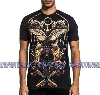 Affliction Black Label Totem A21583 New Short Sleeve Graphic T-shirt For Men ()