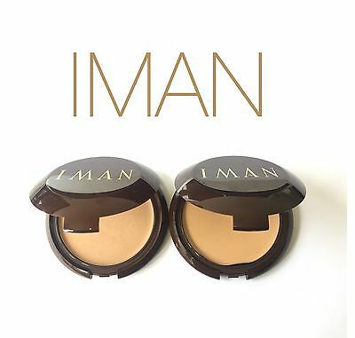 IMAN SECOND TO NONE CREAM TO POWDER FOUNDATION SAND 1 OR 2 *CHOOSE*
