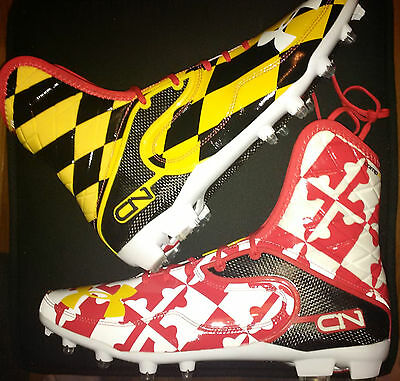Under Armour team-issued Maryland Pride CAM NEWTON Highlight cleats sz 12  c1n