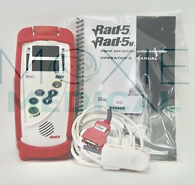 Masimo Rad-5 Handheld Pulse Oximeter Patient Cable Dci-dc3 And New Batteries