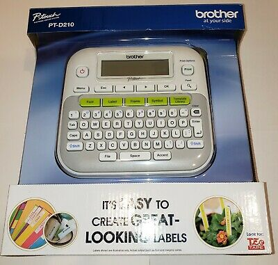 Brother P-touch Pt-d210 Electronic Labeling Systems New Label Tape Maker