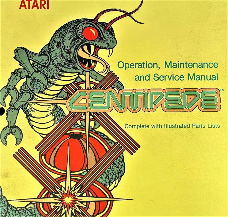 ATARI Centipede Arcade Manuals Signature Analysis Guide Schematics Drawing